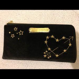 Betsey johnson black velvet purse